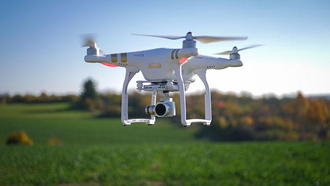 Drohnenflug.