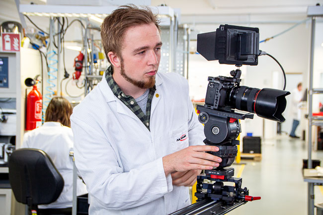Drehimpression Imagefilm.