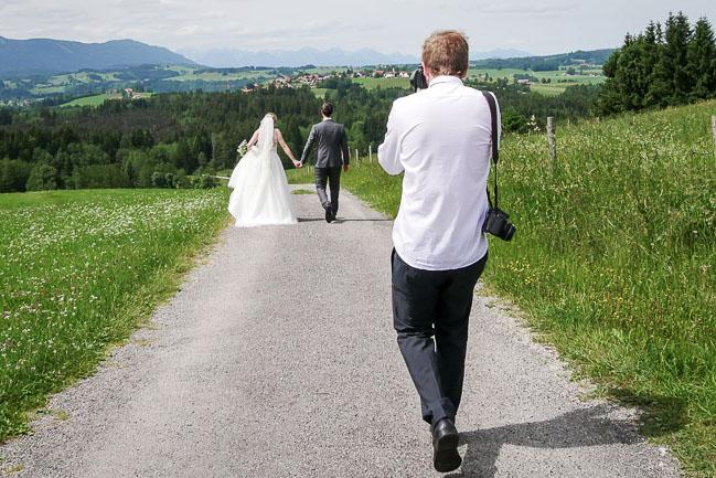 Hochzeitsfotografie Shooting.